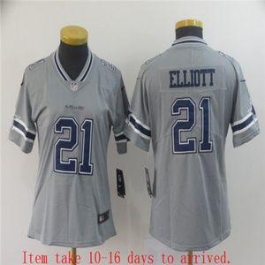 Women Cowboys #21 Ezekiel Elliott Jersey